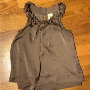Beautiful, lined taupe blouse.